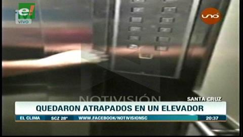 Tres personas quedaron encerradas en el elevador de la Unifranz