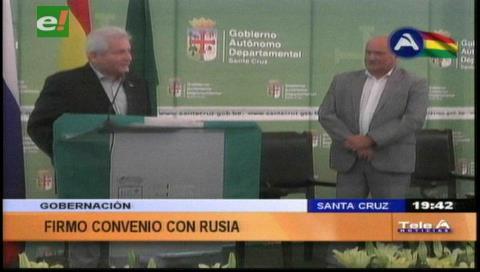 Gobernación cruceña y Rusia sellan compromiso de cooperación