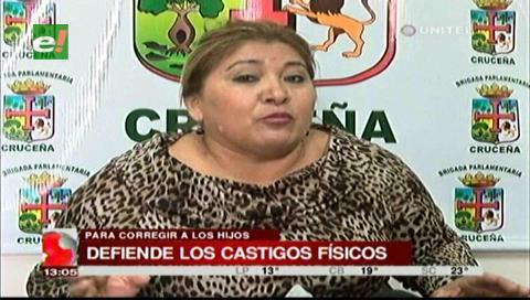 Diputada Paz defiende el derecho de los padres de castigar a sus hijos