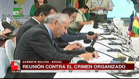 Bolivia y Brasil definen caminos para luchar contra el crimen organizado