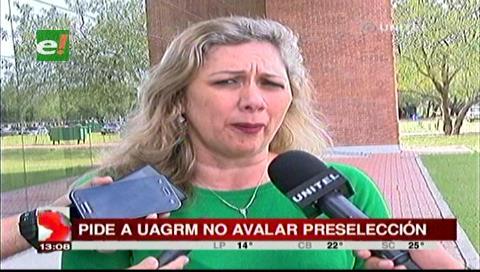 Opositores critican al vicerrector de la Uagrm por seguir en proceso de preselección