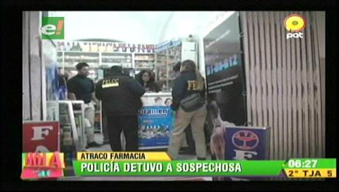 La Paz: Detienen a una persona por intento de robo a una farmacia