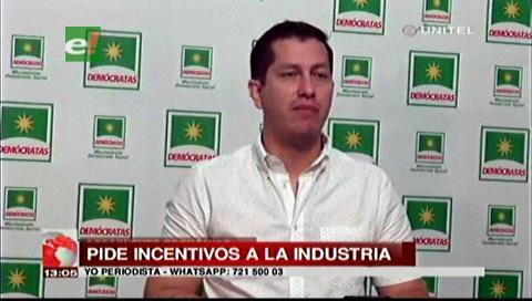 Diputado Vaca pide al Gobierno incentivar la industria en el país