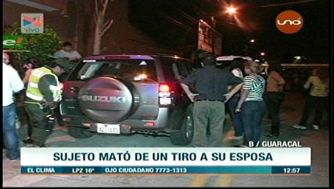 Santa Cruz: Sujeto mata a su esposa de un disparo en el pecho