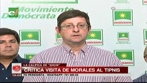 Senador Ortiz calificó de show la visita del presidente Morales al TIPNIS