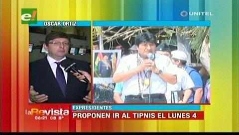 Senador Ortiz ve oportuna la posible visita de ex presidentes al TIPNIS