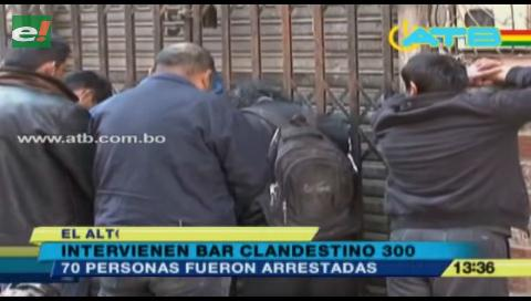 Intervinieron nuevamente el bar clandestino 300 de El Alto