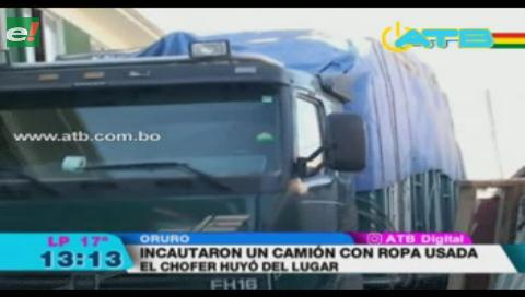 Aduana incauta camión que transportaba mercadería de contrabando