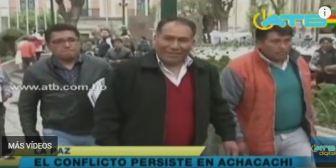 El alcalde de Achacachi, Edgar Ramos, gobierna desde Warisata
