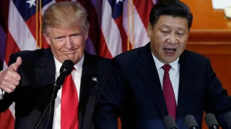 Donald Trump, presidente de los Estados Unidos, y su par chino Xi Jinping