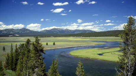 Panorámica de Yellowstone en el valle de Hayden. Parque Nacional de Yellowstone, Wyoming, Estados Unidos
