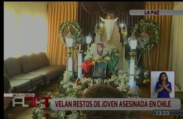 Velan los restos mortales de joven fallecida en Chile