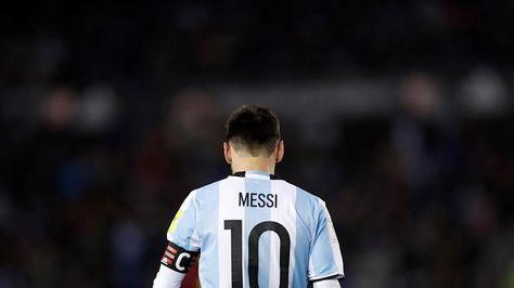 Lionel Messi de Argentina durante el partido que su equipo empató ante Venezuela.