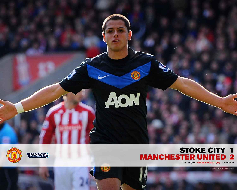 Resultado de imagen para chicharito manchester united 2011 gol al stoke city