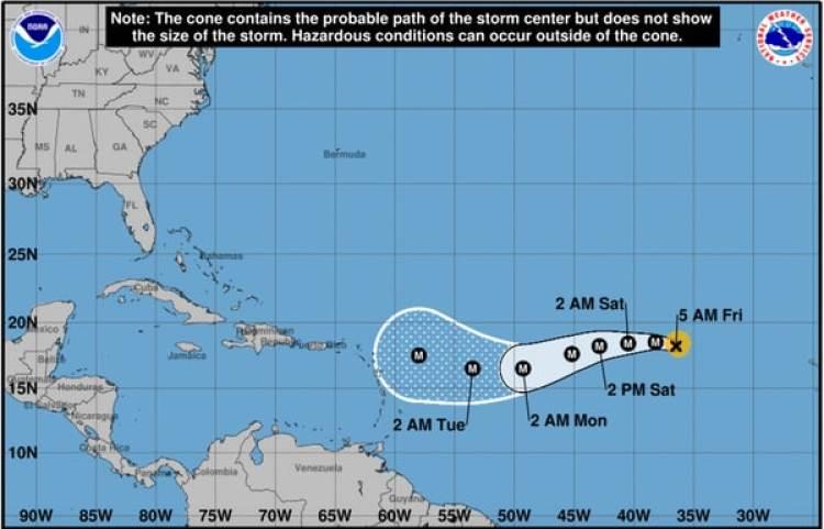 Pronóstico del Huracán Irma. Boletín de las 5 am – viernes 1 de septiembre
