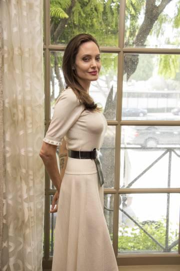 Angelina Jolie, que presenta nuevo trabajo.