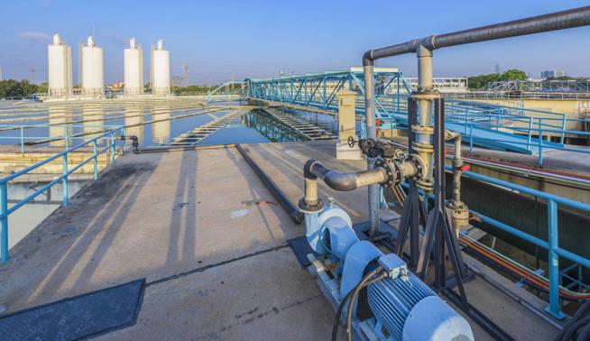 Planta de saneamiento de agua. (iStock)