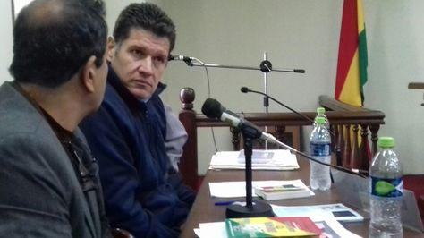 El expresidente del TDJ, Ariel Rocha López, en la audiencia que se realizó este lunes. Foto: Marco Curi
