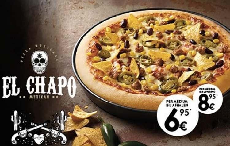 La promoción incluye elementos de la narco cultira. (Foto: Facebook Pizza Hut)