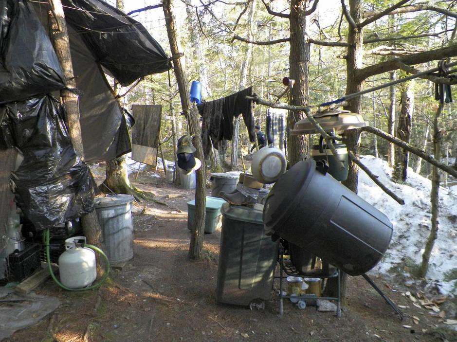 El campamento en el que Knight vivía en el momento de su detención. (Reuters/Maine State Police)