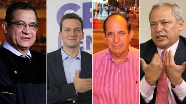 El juez Gustavo Malo y los senadores Alfredo Ramos, Álvaro Ashton y Hernán Andrade