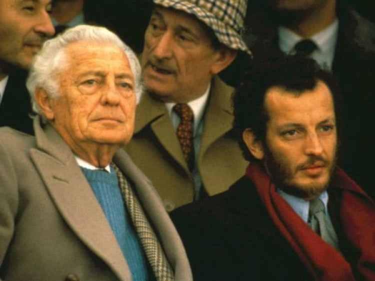 Agnelli con su hijo Edoardo