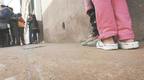 Inspección al Hogar Eguino, de donde escapó Israel. Foto:Wara Vargas