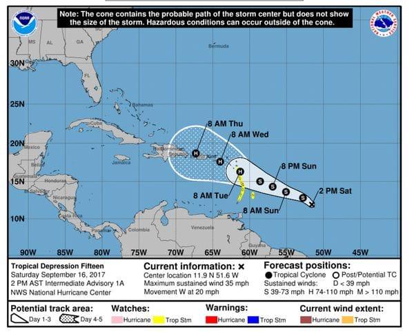 Tormenta tropical María es la nueva pesadilla en el horizonte