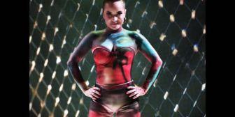 Oriana Arredondo cumplió el reto del body paint