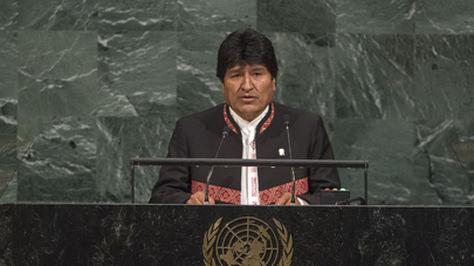 La intervención del presidente Evo Morales en la sede la ONU.