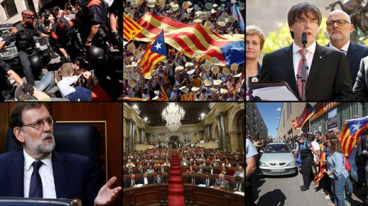 Cataluña está en vilo por la crisis que desató la convocatoria a un referéndum independentista