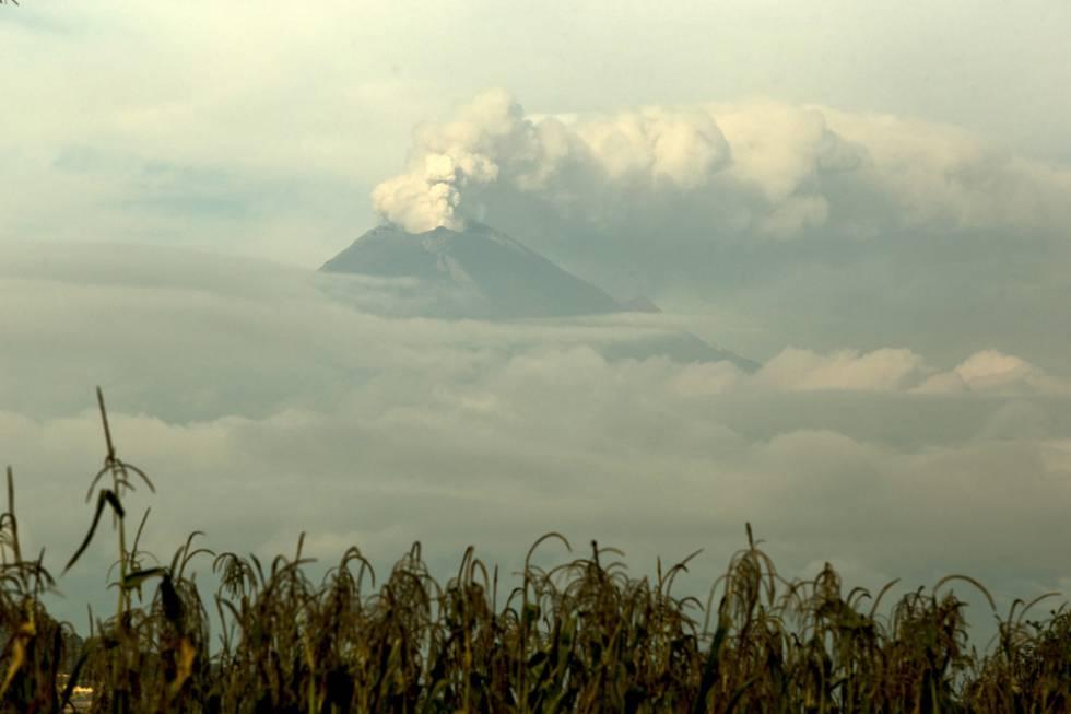 El volcán Popocatépetl el 27 de septiembre de 2017.