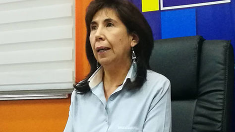 La gerente del Banco Unión, Marcia Villarroel, denuncia desfalco en una agencia de Batallas. Foto:ABI