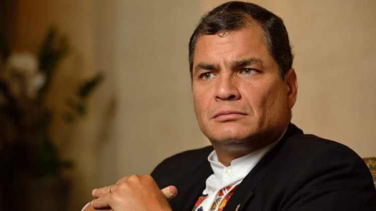 El ex presidente de Ecuador, Rafael Correa