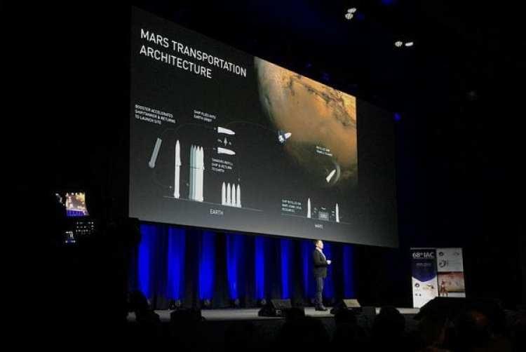 Elon Musk durante el Congreso Astronáutico Internacional que se realiza en Adelaida, Australia (Reuters)