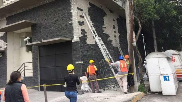 Algunos de los edificios dañados tenían un año de haber sido construidos.