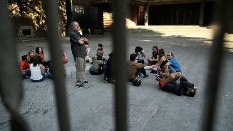 Todavía hay 163 colegios ocupados en Calaluña (AP)