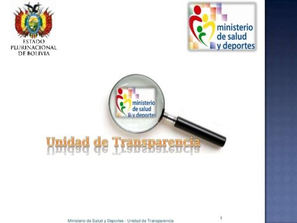 1Ministerio de Salud y Deportes - Unidad de Transparencia