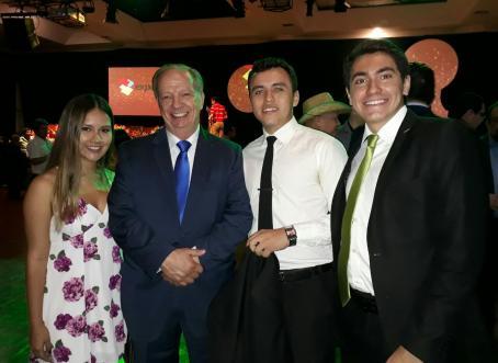 Claudia Pers, Freddy Suarez, Juan de Dios Villaroel y Cristian Hillmann