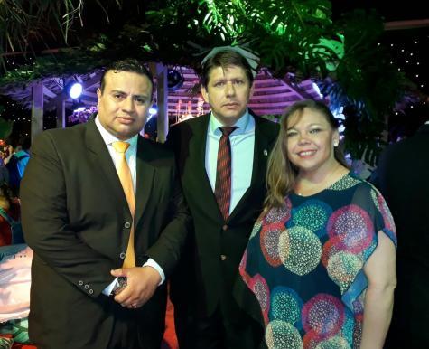 Diego Clavijo, José Carlos y Teresa Gutierrez
