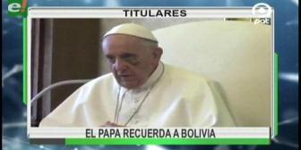 Video titulares de noticias de TV – Bolivia, noche del lunes 18 de septiembre de 2017