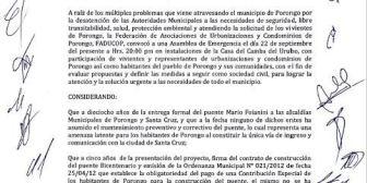 Asociación de Urbanizaciones impulsa revocatorio contra alcalde de Porongo