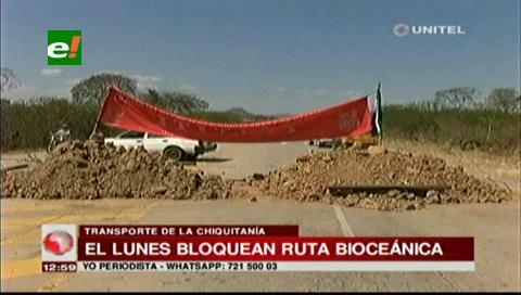 Transporte interprovincial confirma bloqueo en la carretera bioceánica
