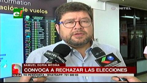 Doria Medina convoca a la población a rechazar las elecciones judiciales