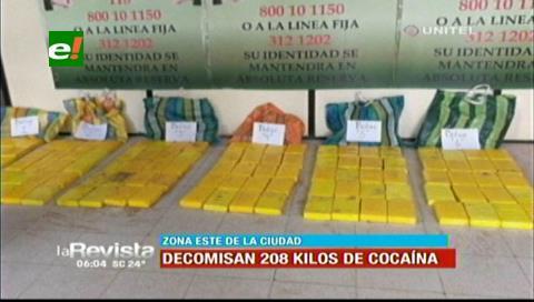 Detienen a tres personas en posesión de 200 kilos de droga en un domicilio