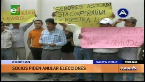 Socios exigen la anulación de las elecciones en Cooplan