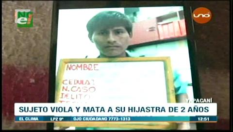 Yapacaní: Sujeto viola y mata a su hijastra de 2 años