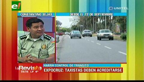 Tránsito: Taxistas que no se acrediten no podrán ingresar a la zona de Expocruz