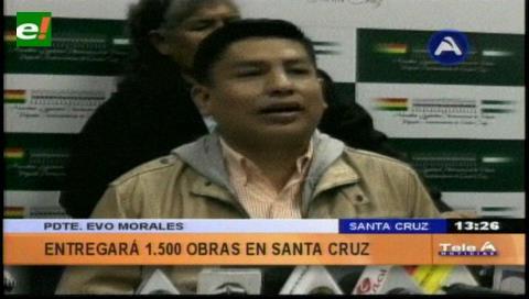 Presidente gobernará desde Santa Cruz durante una semana por su efeméride departamental