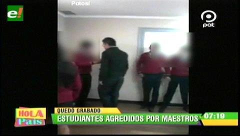Video: Se viraliza el maltrato de un presunto profesor contra un estudiante